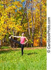 yoga, utthita, parshvasahita