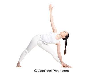 Yoga Utthita Trikonasana Pose