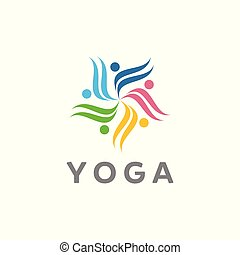 yoga vector logo designs
