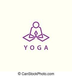 Yoga vector logo template