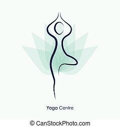 Yoga Vector Pose