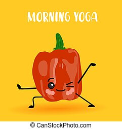 yoga vegetables. Healthy lifestyle. Sports and...