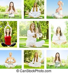 Yoga woman collection