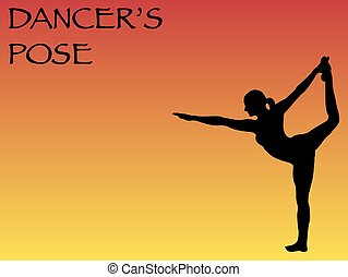 Yoga Woman Dancer's Pose