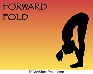 Yoga Woman Forward Fold Pose