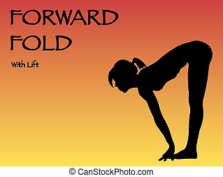 Yoga Woman Forward Fold With Lift Pose