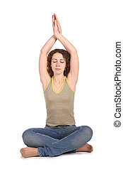 yoga woman isolated on white