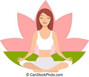 Yoga. Woman Meditating