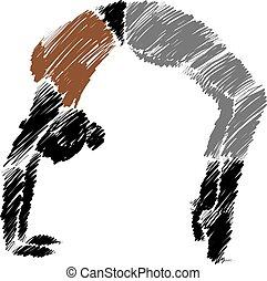 yoga woman posture 4 illustration
