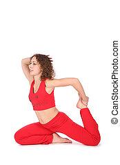 yoga woman stretching