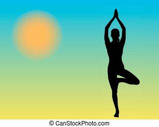 Yoga Woman Tree Pose