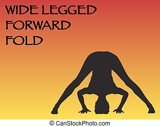 Yoga Woman Wide Legged Forward Fold Pose