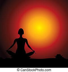 Yoga women figure