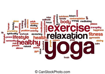 Yoga word cloud - Yoga concept word cloud background