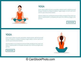 Yoga Workout, Sporty Woman in Lotos Pose - Yoga workout,...