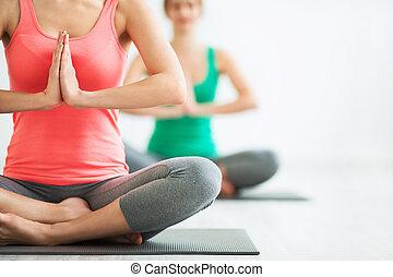 Yoga - Young girls do yoga