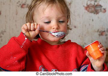 yoghurt, eten