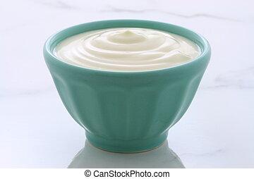 yoghurt, ouderwetse , vlakte