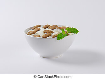 Yoghurt with chocolate breakfast biscuits