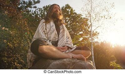 Yogi sitting in meditation