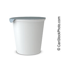 yogur, taza
