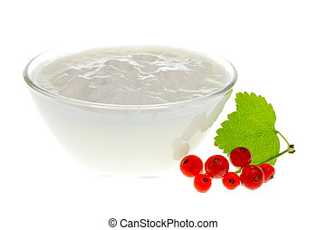 Yogurt bowl with Redcurrant berries