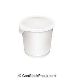 Yogurt container isolated on white background