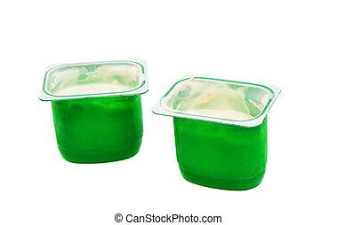 yogurt in plastic box