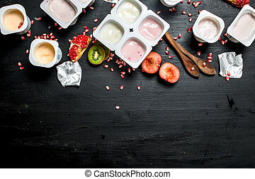 Yogurt with fresh fruit.