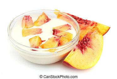 Yogurt with peach