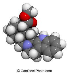 Yohimbine aphrodisiac molecule, chemical structure -...