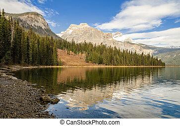 yoho, esmeralda, británico, lago, canadá, nacional, colombia...