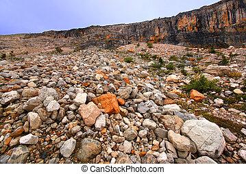Yoho National Park Rocky Landscape