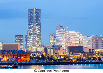 Yokohama at dusk