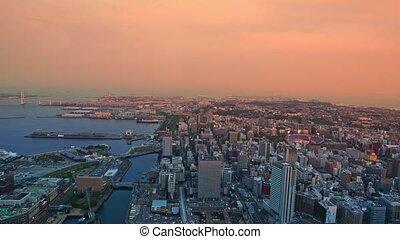 Yokohama Cityscape aerial