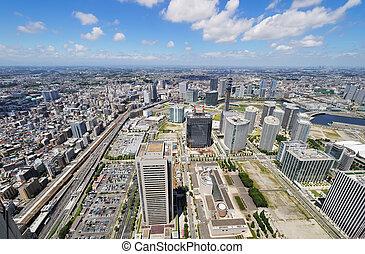 Yokohama Cityscape. No brand names or copyright objects.