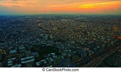 Yokohama Cityscape skyline Sunset