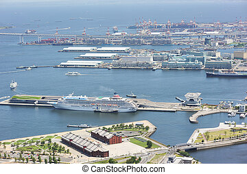 Yokohama harbour. No brand names or copyright objects.