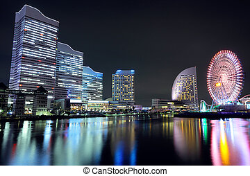 Yokohama in Japan at night