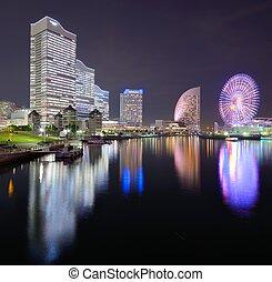 Yokohama, Japan Cityscape at Minato-mirai - Yokohama, Japan...