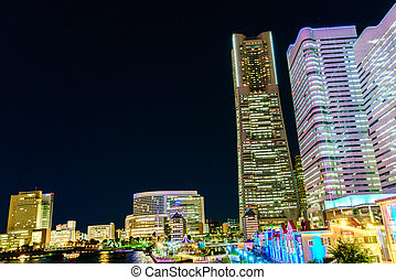 Yokohama, Japan - November 24,2015 : Yokohama city , Yokohama is the third biggest city in Japan.