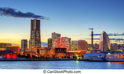 Yokohama, Japan skyline