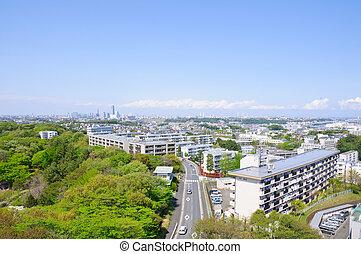 Yokohama, Japan - Yokohama Cityscape. Taken in spring 2011.
