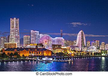 Yokohama Japan - Yokohama, Japan aerial view at Minato Mirai...