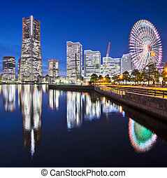 Yokohama Japan - Yokohama, Japan skyline at Minato Mirai...