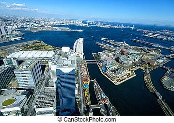 Yokohama Minato Mirai 21. View of Minato Mirai 21 in...
