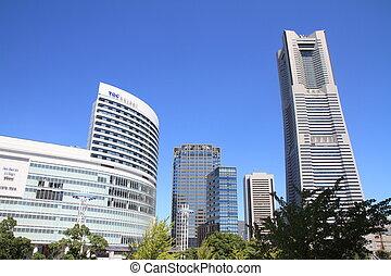 Yokohama Minatomirai 21 in Kanagawa, Japan