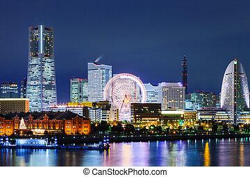 Yokohama skyline at night