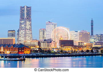 Yokohama Skyline building and skyscraper in downtown at...