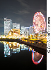 Yokohama Skyline night Japan